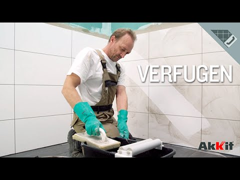 Verfugen mit Akkit Flexfugenmörtel und Natursteinfugenmörtel