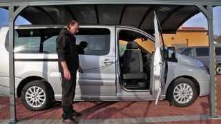 TURNY EVO + CARONY FIXED 002 ve voze CITROEN Jumpy - přesun z vozu