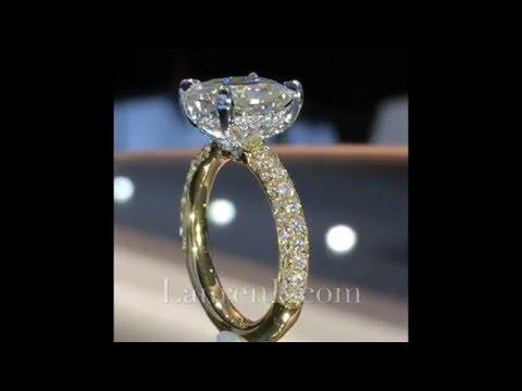 3 ct Cushion Moissanite 2-Tone Engagement Ring