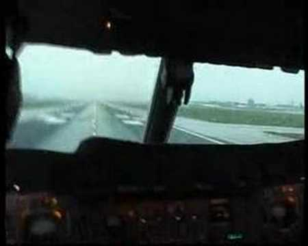 Concorde cockpit take off from London Heathrow