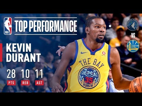 Video: Kevin Durant's 10th Career Triple-Double (28/10/11) | January 25, 2018