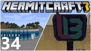 HermitCraft 7 E34 - DECKED OUT, BUILDING & TARGET PRACTICE