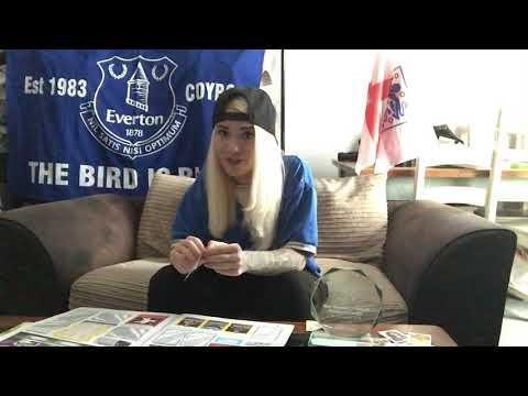 Sarah Halpin opens Panini Sticker Pack - Liverpool