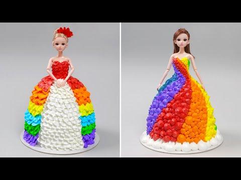 Amazing Princess Rainbow Cake Decorating | Easy Princess Rainbow Cake Recipes by Yummy Pastry