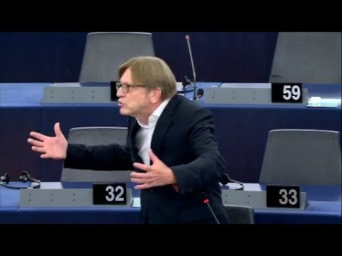 Asyldebatte: EU-Parlamentarier Verhofstadt liest Ku ...