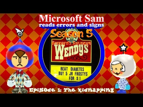 Microsoft Sam reads errors and signs (S5E1): The Kidnapping