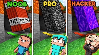 Secret Base Challenge! (NOOB vs PRO vs HACKER)