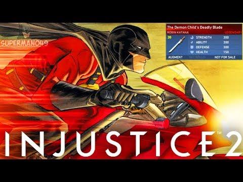 Robin's 719 Damage Legendary Super Move! - Injustice 2