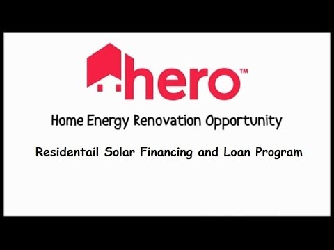 HERO Solar Financing Loan Program