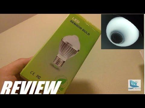 REVIEW: Motion Detection Sensor LED Lightbulb E27