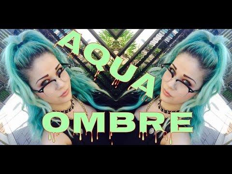 Aqua mint ombré