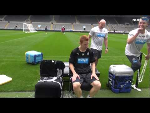 Video: Pardew And Colback Accept Ice Bucket Challenge