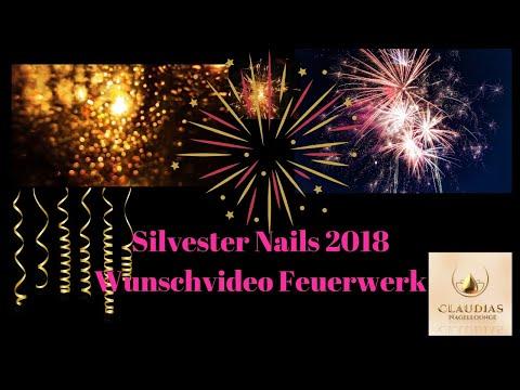 Nageldesign - Silvester Nägel 2018 und wie bekomme ich ein Feuerwerk auf die Nägel Wunschvideo