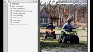 3. Arctic Cat DVX 90 - 90 Utility ATV (2012) - Workshop, Service, Repair Manual