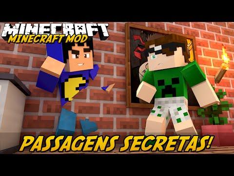 Minecraft Mod: PASSAGENS SECRETAS! (Misture Blocos. Portas Automáticas // MalisisDoors Mod)