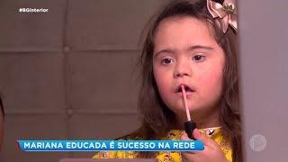 Menina de 7 anos com down de Marília faz sucesso na internet