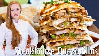 Steakhouse Mushroom Pork & Pepper Quesadillas by Tatyana's Everyday Food