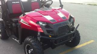 9. 2012 Polaris Ranger 500 Sunset Red LE