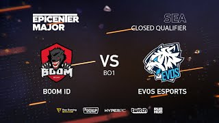 EVOS vs BOOM ID, EPICENTER Major 2019 SA Closed Quals , bo1 [kvyzee]