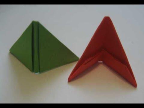 Видео как сделать модуль оригами