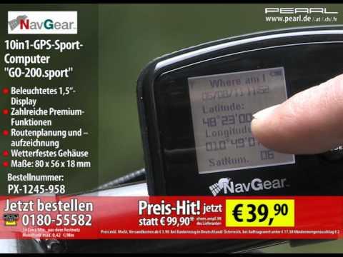 NavGear 10in1-GPS-Sport-Computer