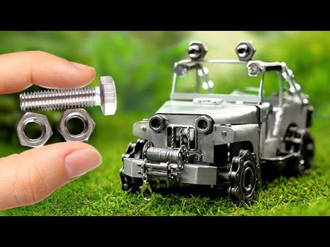 DIY CAR MADE FROM RUBBISH || Cool Craft From Nuts and Bolts