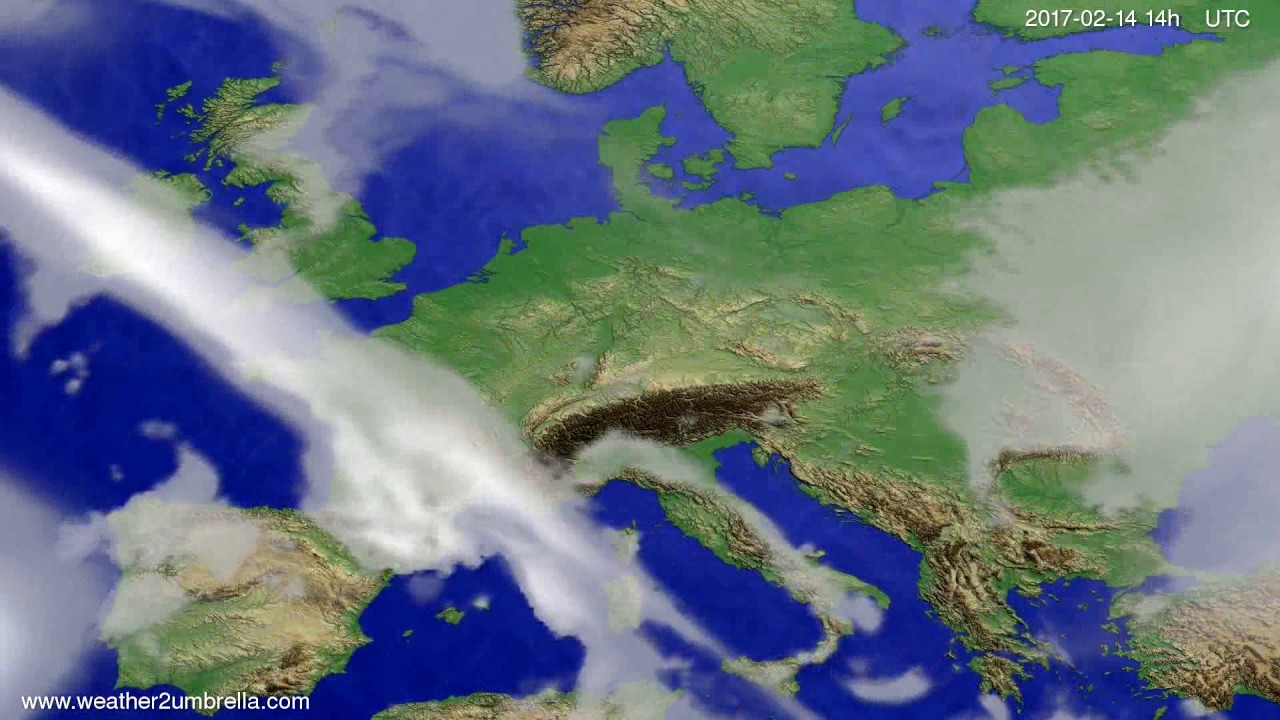 Cloud forecast Europe 2017-02-10