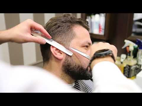Marino Barber Shop  TUTORIAL TAGLIO CLASSICO PETTINE E FORBICE CON FINISH ONDULATO