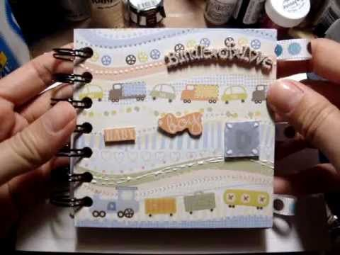 Simple Baby Boy Mini Scrapbook Album (Easy to Carry-Along :)!)