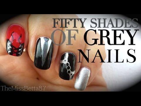 nail art - cinquanta sfumature di grigio