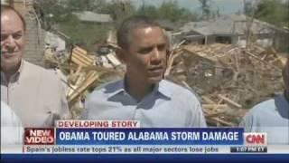 Tuscaloosa (AL) United States  city images : President Obama tours Tuscaloosa Alabama Storm Damage (April 29, 2011)