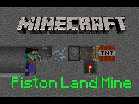 Piston - My tutorial on how to make a piston land mine to blow up unsuspecting miners! This trap uses the simplified version of EthosLab's BUD switch: the piston BUD...