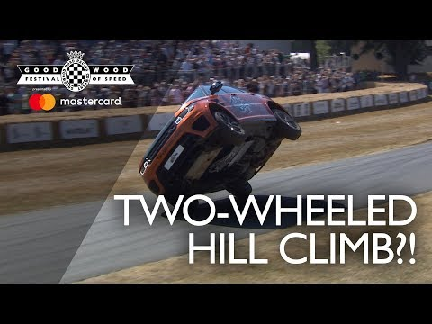 Terry Grant crashes during two-wheel hill climb (видео)