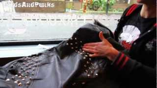 How To Stud A Leather Jacket or Vintage and Punk Clothes With ...