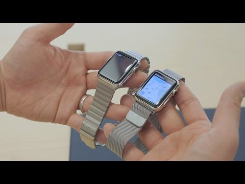 Apple Watch Hands-On and Software Demo! (38mm vs 42mm)