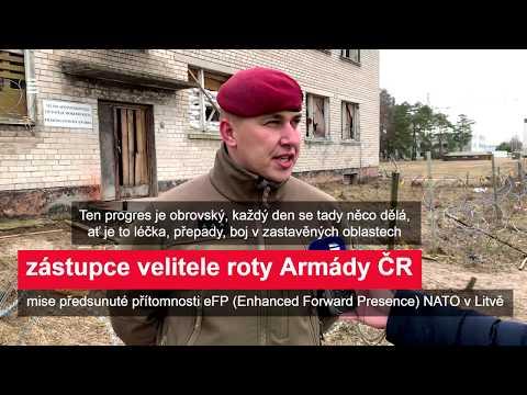 20 let v NATO: Čeští vojáci cvičí v Litvě