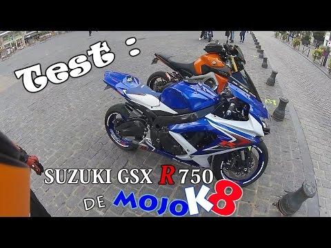 🔥 JE TESTE LA SUZUKI GSX R 750 de MOJOK8 !!! 🏁🔥