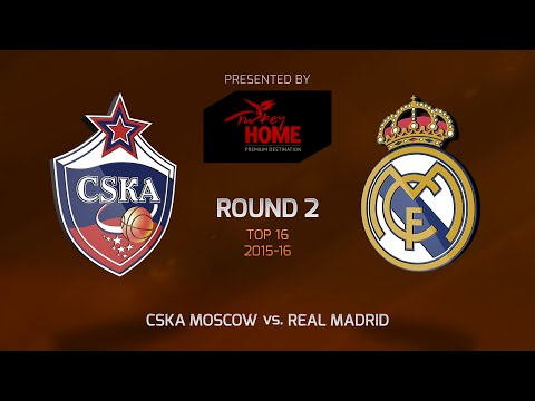 Highlights: Top 16, Round 2, CSKA Moscow 95-81 Real Madrid