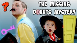 Hello Neighbor vs Detective Donut: THE MISSING DONUTS MYSTERY SuperHero Kids SHK Comic In Real Life