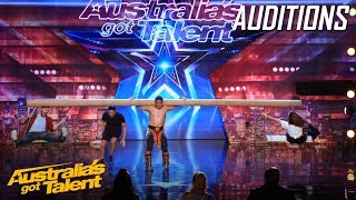 Video AMAZING Mongolian 'Strong Man' Takes Judges for a Ride   Auditions   Australia's Got Talent MP3, 3GP, MP4, WEBM, AVI, FLV Agustus 2019