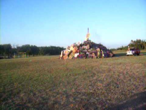 Gatesville, Texas Highschool Bonfire 2010