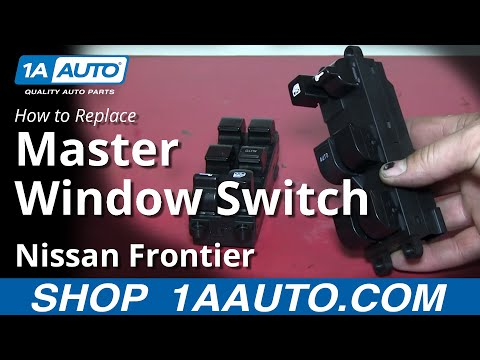 How To Install Replace Power Window Master Switch 1998-04 Nissan Frontier