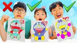 Video 3마커 챌리지 2탄 놀이 해봤어요!! 3가지 색으로 시간안에 캐릭터 색칠놀이 완성하기! 3 MARKER CHALLENGE MP3, 3GP, MP4, WEBM, AVI, FLV September 2018