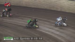 Knoxville Raceway 305 Highlights - June 16, 2018
