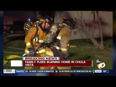 Family escapes house fire in Chula Vista
