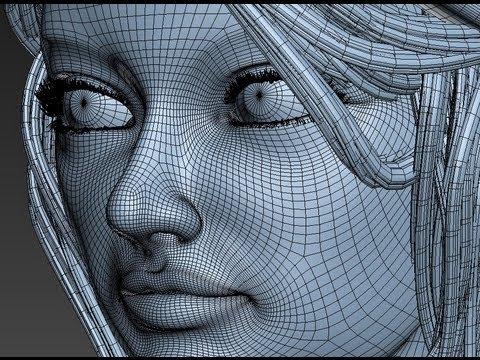 3d girl model timelapse 3ds max tutorials