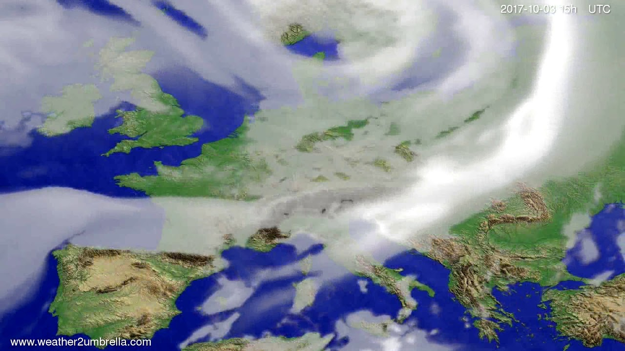 Cloud forecast Europe 2017-10-01