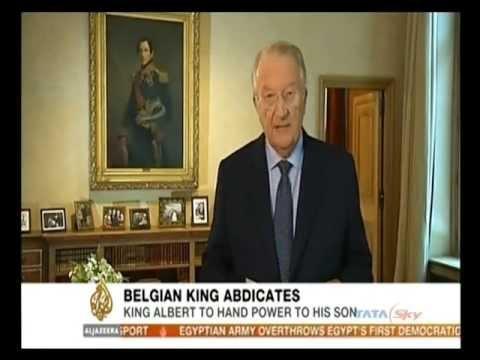 King Albert II of Belgium announces abdication