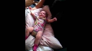 """My 4 month old daughter Mathilde showing off her awesome """"Surprised kitty"""" imitation :)"""