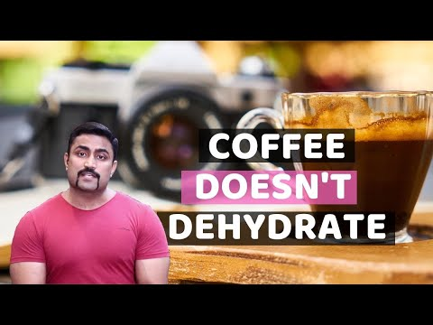 COFFEE DOESN'T DEHYDRATE-STUPID (NO LINK TO SWEATING & URINATION)